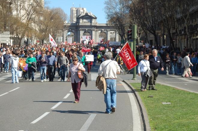 Manifestación del 14 de marzo en Madrid
